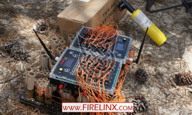 Fireworks wired to Firing Module - Firelinx
