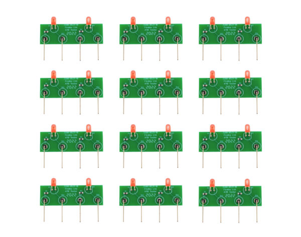 Firelinx Firing Systems- LED Test light - front of 12 PCBs